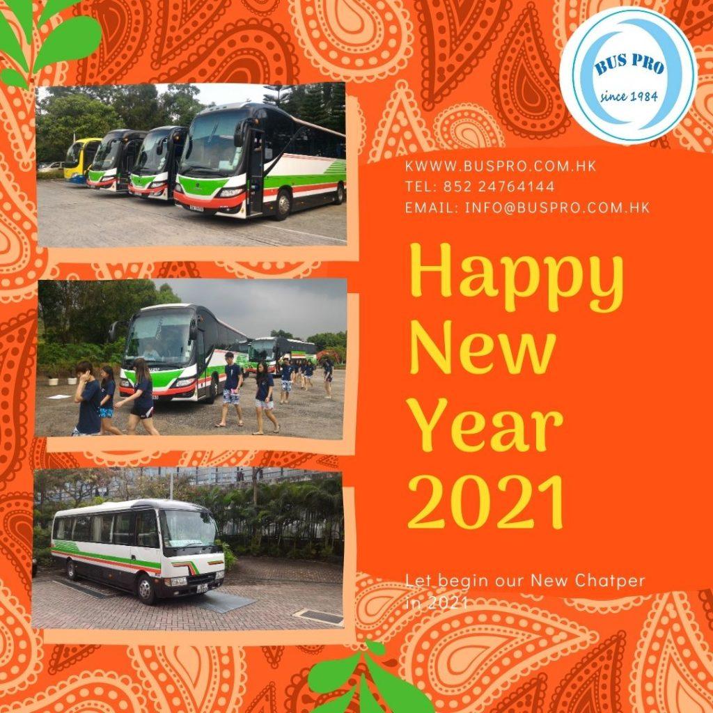Chúc mừng năm mới bằng BusPro Xe buýt cho thuê Co Hong Kong